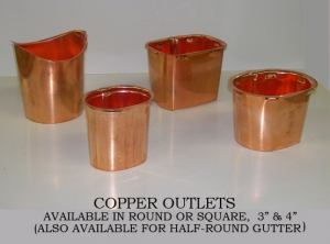 "Available in round or square, 3"" & 4"". Also available for half round gutter."