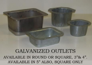 """Available in round or square, 3"""" & 4"""". Also available in 5"""" square."""